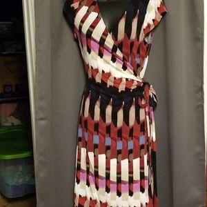 Ann Taylor wrap dress size M